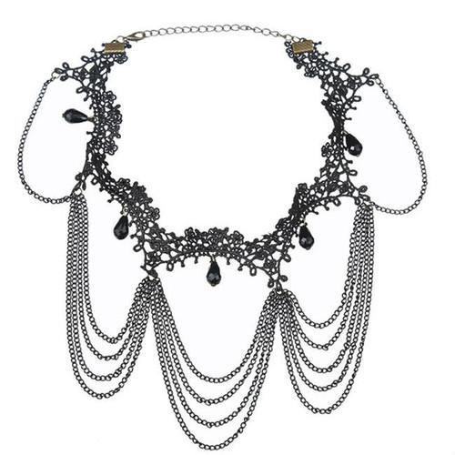 Fashion Black Lace Choker Necklace