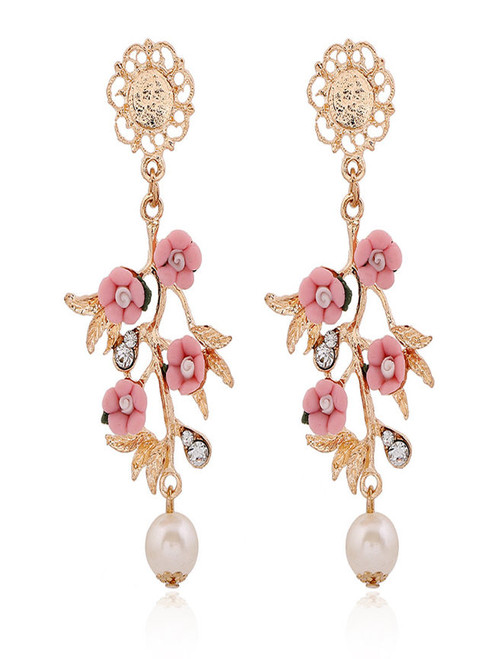 Cheap Spring Floral Acrylic Earring