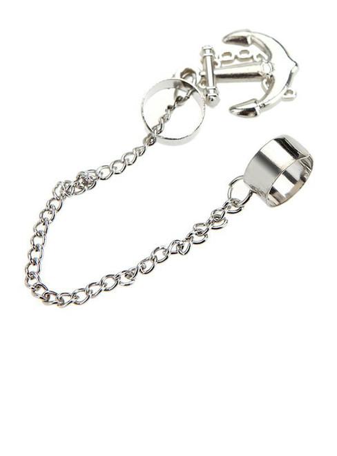 Cheap Anchor Chain Tassel Ear Cuff
