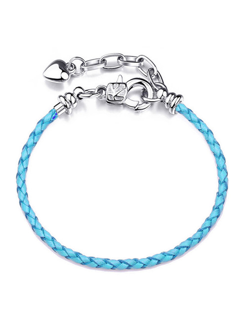 Blue Extended Chain Lobster Buckle Leat
