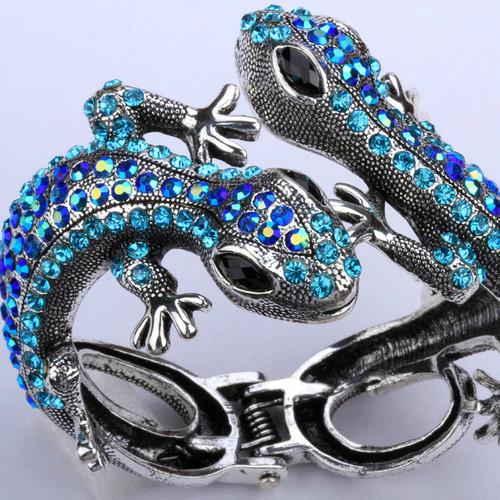 bracelet for women antique gold silver Lizard gecko bangle