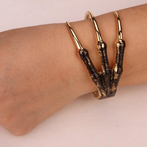 bracelet for women antique silver gold  Skeleton hand claw bangle