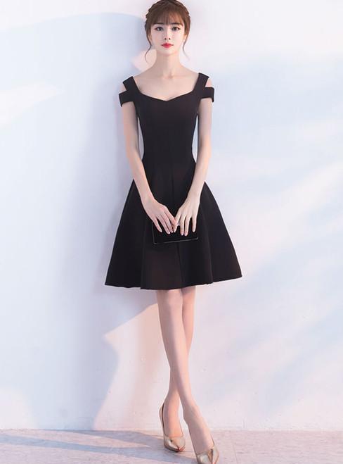 Cocktail Dresses 2017 Evening Party V-neck Sleeveless Black