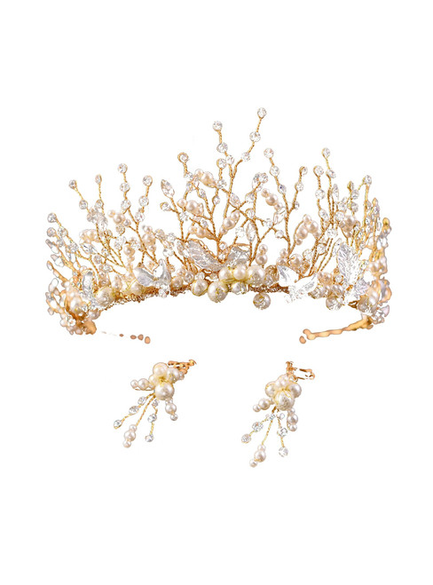 Wedding Hair Accessories Bridal Head Piece Handmade Beads Flower Headband