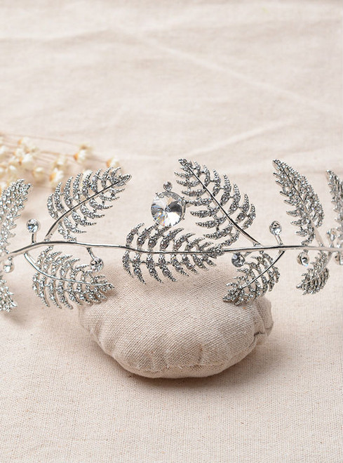 women hair jewelry bride tiara wedding hair jewelry shape leave simple