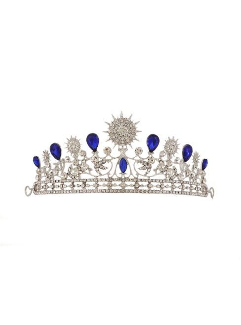 Big Crown Baroque Headdress Hairband Sunflower