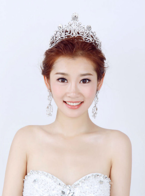 decorated wedding crystal bridal crown exaggerated hair ornaments