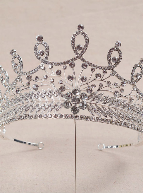 wedding hair jewelry retro baroque style tiara crystal crown bride