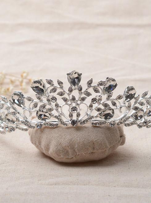 wedding hair accessories crystal sparkling bride tiara para