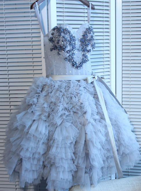 Cheap A-line Sweetheart Short Mini Tulle Short Prom Dress