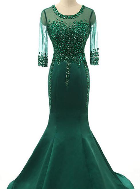 Fashion Transparent Evening Dress Real Photos Prom Dresses