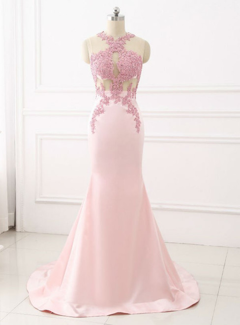 Women Formal Gown For Prom Sexy Mermaid Evening Dress Lace Appliques