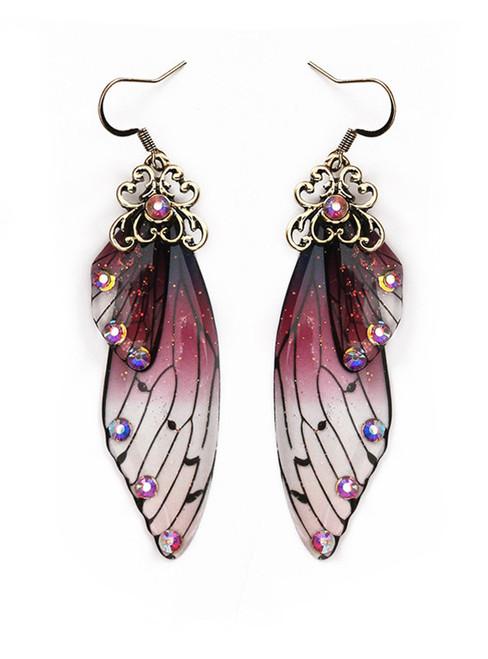 Butterfly Wings Bridal Earrings