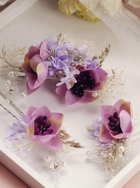 hairpins 3pcs sets bride hair accessories handmade