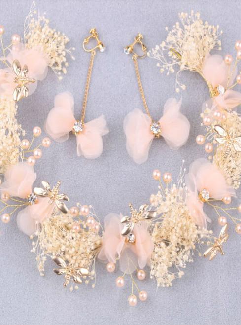 wedding wreath hoop Dragonfly hair accessories stars bride bride headdress wedding