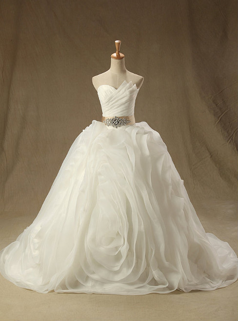 2017 Real Image Wedding Dresses Sparkle White Ball Gown