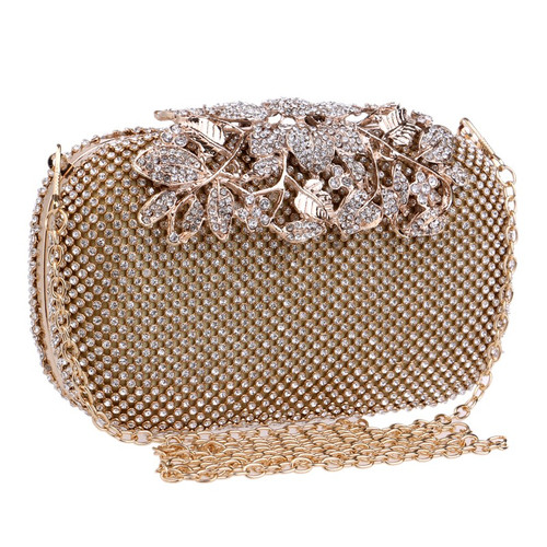 Lady Wedding Purse  Flower Crystal Evening Bag Clutch Bags Clutches