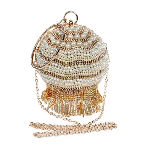 Crystal Beading Evening Bags Tassel Rhinestones Small Day Clutch