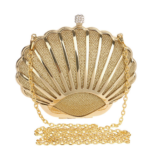 Fashion Hollow Out Style Women Evening Bag Shell Design Diamonds Mixed