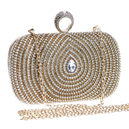 Water Design Accessory Rhinestones Handmade Women Evening Bags