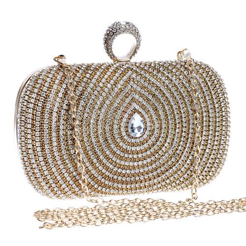 Water Design Accessory Rhinestones Handmade Women Evening Bags