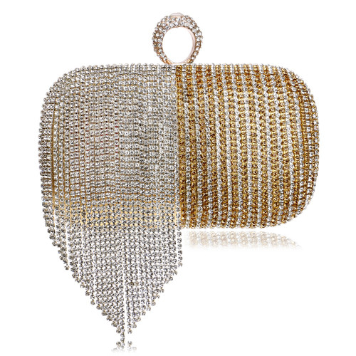Women Evening Bags Finger Ring Diamonds Evening Bag Day Clutches
