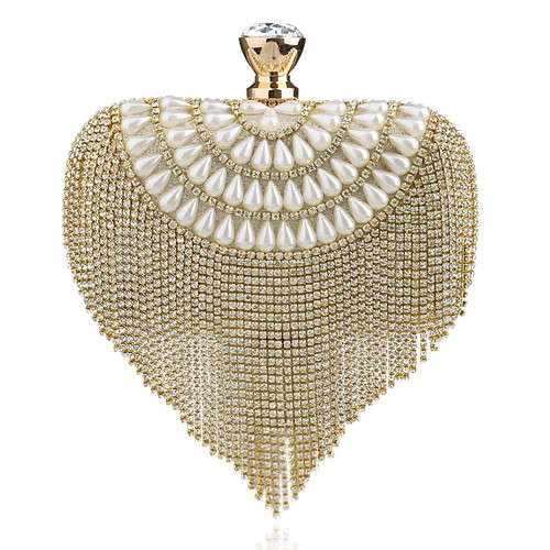 women bag luxury imitation pearl evening bags wedding beaded day
