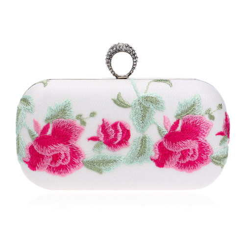 Classical Embroidery printed flower handmade style women evening bags