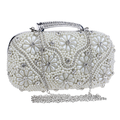 Women Evening Bags Chain Shoulder Messenger Bag Beaded