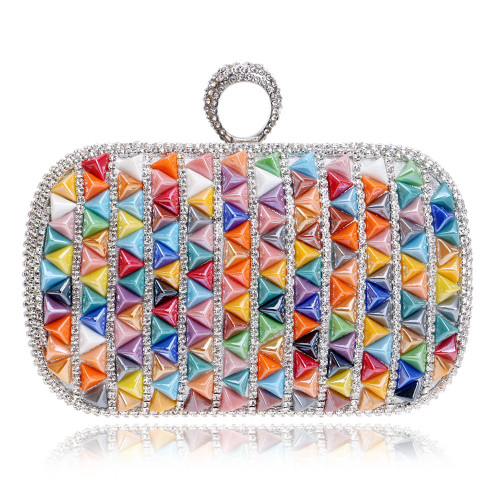 Fashion Women Evening Bags Colorful Candy Beaded Wedding Party Handbags