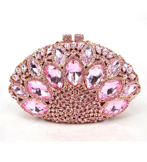 Luxury Brand Crystal Evening Bag Pink Diamond Clutch Bag nightclub Party Purse