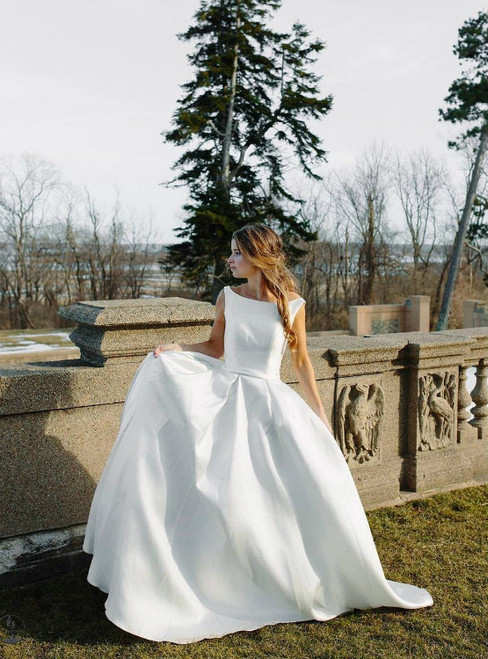 Amazing Wedding Dress 2017 Simple Satin Bridal Ball Gowns