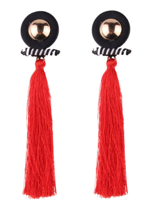 Fashion Hot Sale Brand Tassel Long Earrings Statement Jewelry