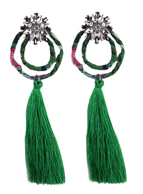lady Fashion Hot Brand Tassel Long Earring Statement Jewelry Women
