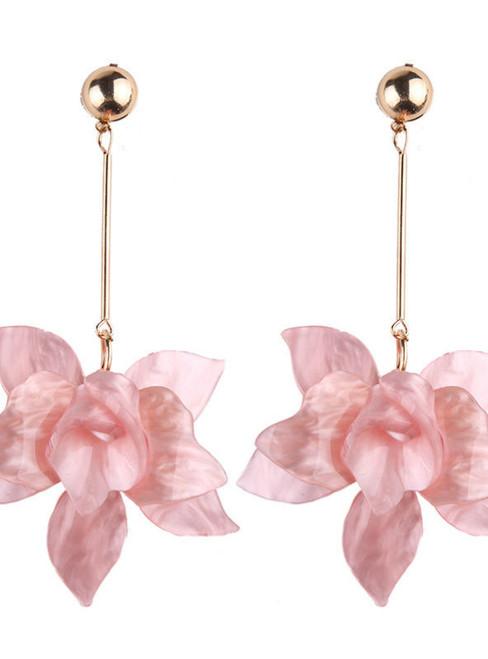 Flowers Dangle Earrings For Women Drop Jewelry Fashion