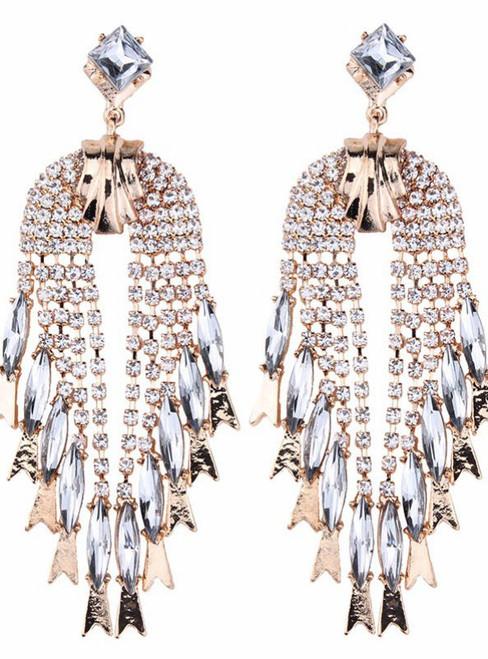 Sexy Design Big Long Dangle Earrings Femme Tassel Beads
