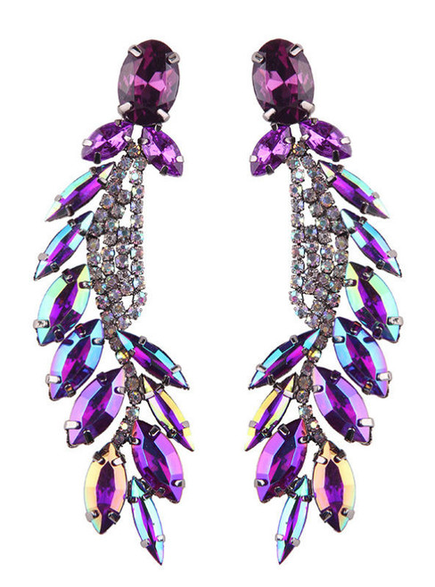Bohemian Multicolored Luxury Crystal Earrings Statement Jewelry