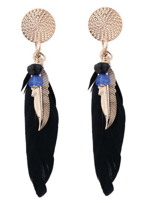 Best lady Fashion Statement Jewelry Leaves Wings Charm Drop Earrings