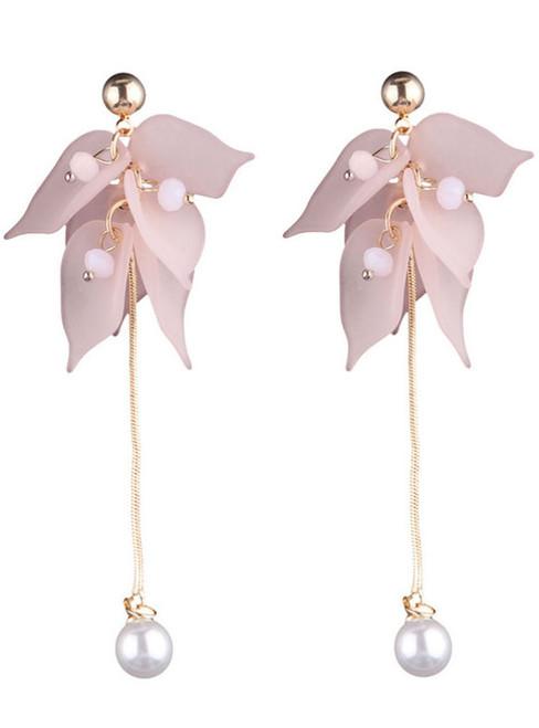 Hot Sale Cheap Luxury Resin Leaf Drop Earrings For Women