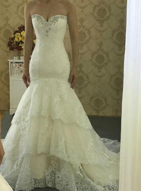 Wedding Dresses High Quality New Fashion Lace Mermaid Ivory