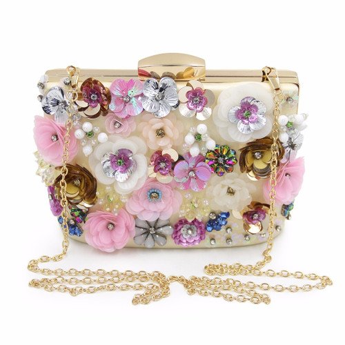 Women Wedding Clutches Female Day Bags Flower Party Bags