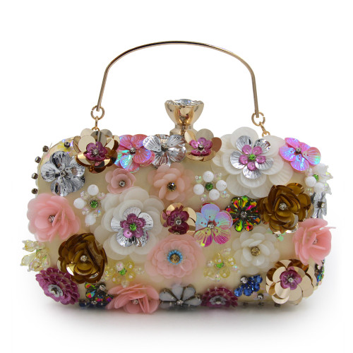Women Female Bags Flower Shape Wedding Party Clutch Purse Ladies Gold Day Clutches