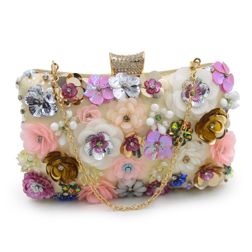 Women Evening Bags Fashion Ladies Clutch Bag Flower Clutches Female