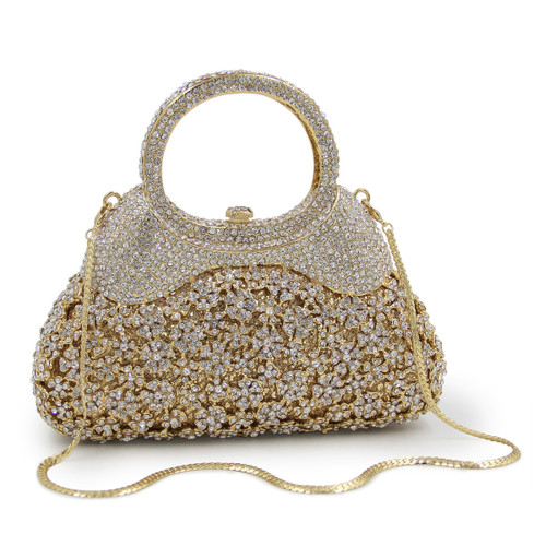 Luxury Flower Crystal Evening Bags Special Design Handbag Girl's Party Purse