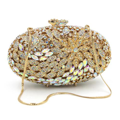 Women Crystal Clutch Bag Gold Evening Bags Lady Diamond Wedding Clutches