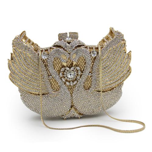 Women Handbags Animal Luxury Crystal Evening Bags
