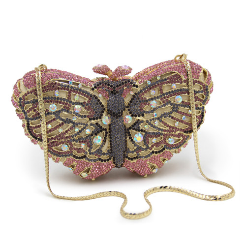 Women Butterfly Shape Luxury Crystal Evening Bag