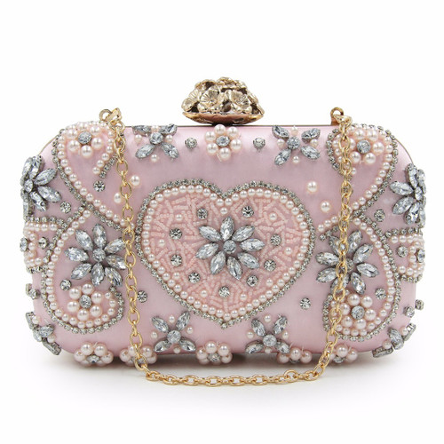 Beaded Clutch Girls Wedding Purses Party Bags Flower