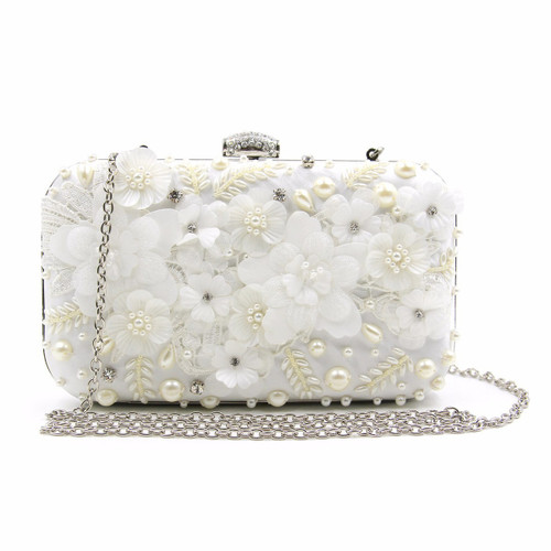 Flower Clutch Women Evening Bag Ladies Diamond Alloy Beaded Clutches