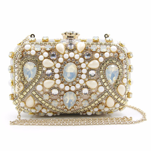 Luxury Alloy Beaded Bags Women Wedding Purse Girls Party Bag